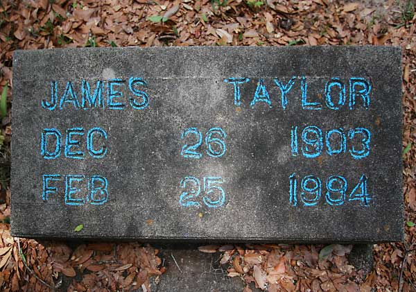 James Taylor Gravestone Photo