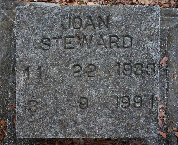 Joan Steward Gravestone Photo