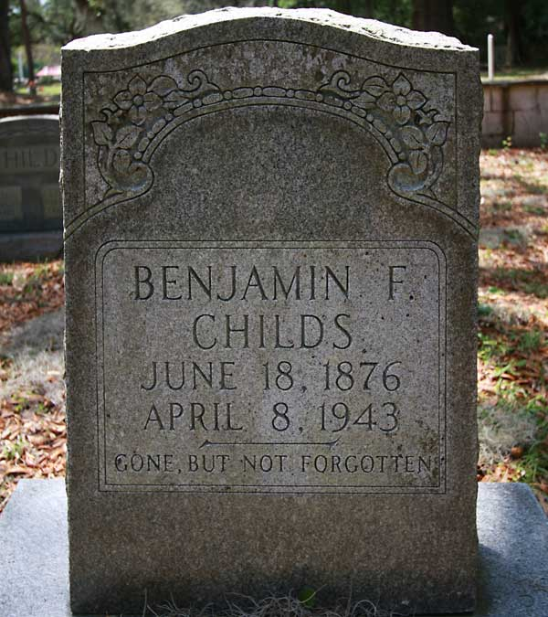 Benjamin F. Childs Gravestone Photo