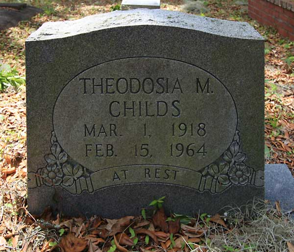 Theodosia M. Childs Gravestone Photo