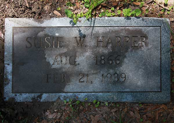 Susie W. Harper Gravestone Photo