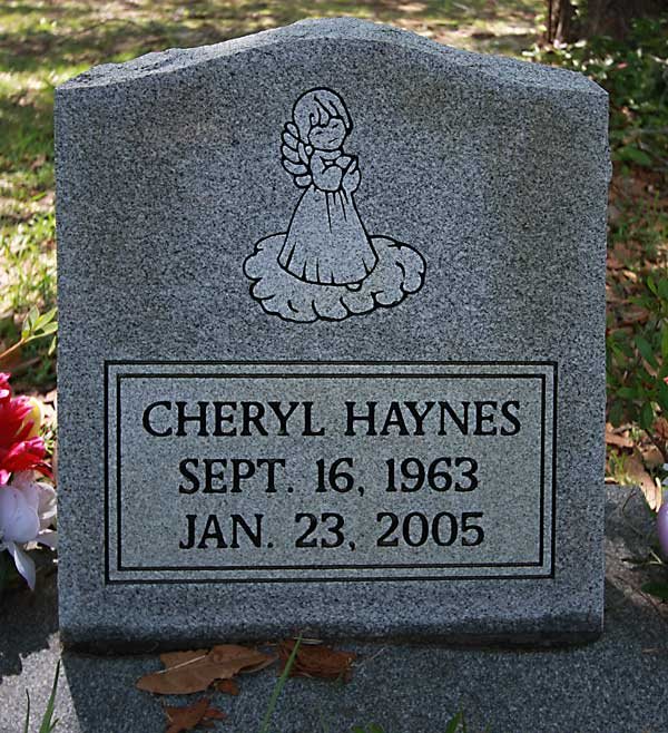 Cheryl Haynes Gravestone Photo