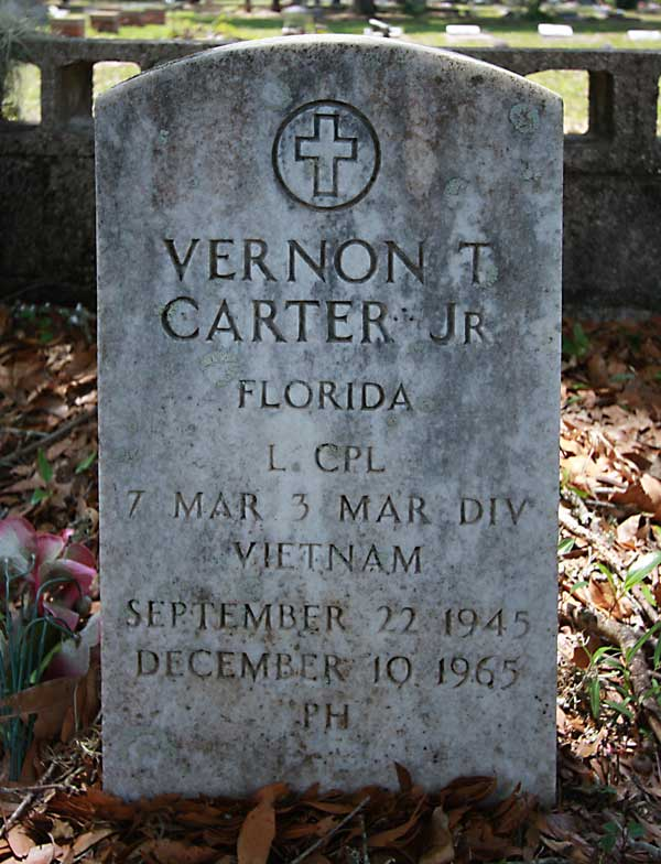 Vernon T. Carter Gravestone Photo