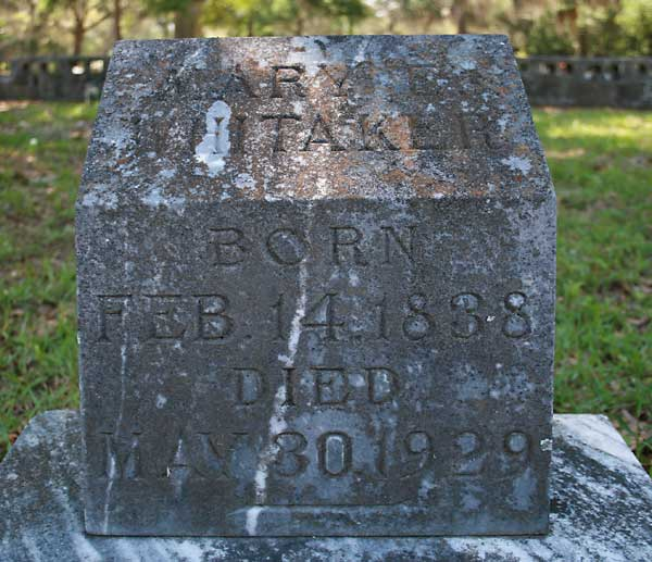 Mary E. Whitaker Gravestone Photo