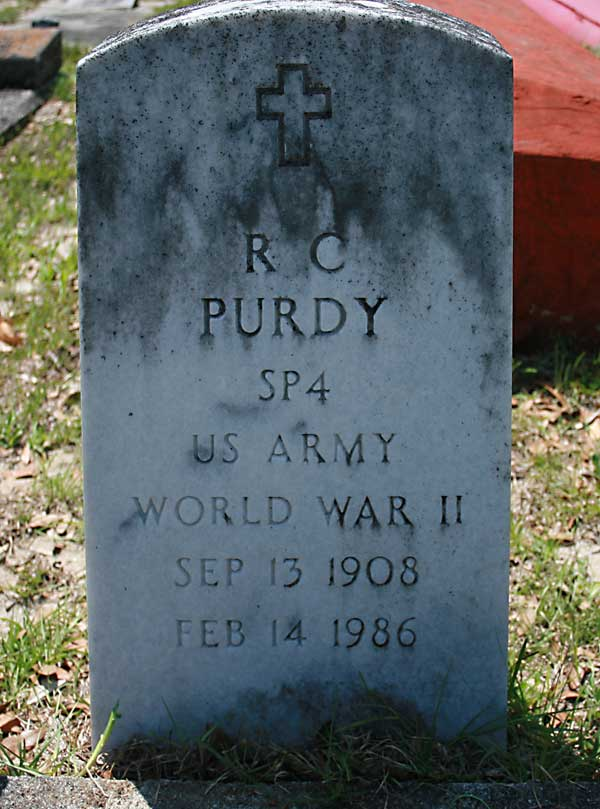 R. C. Purdy Gravestone Photo