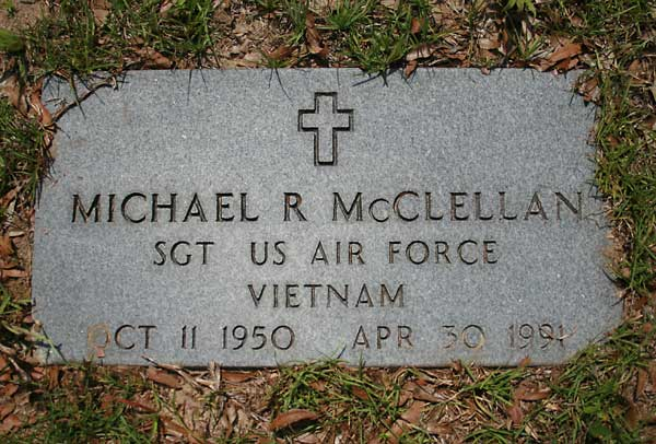 Michael R. McClellan Gravestone Photo
