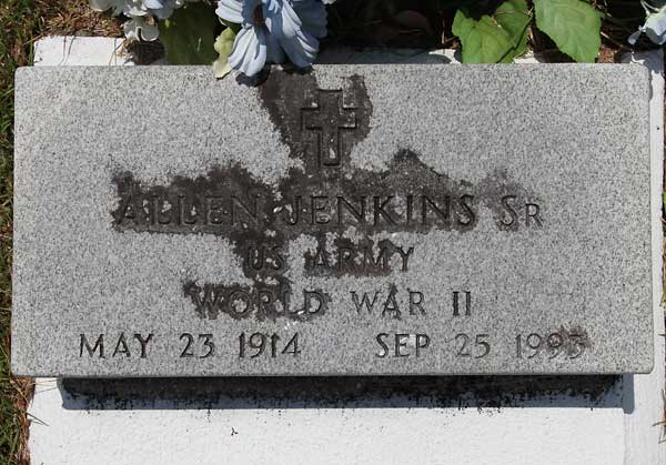 Allen Jenkins Gravestone Photo
