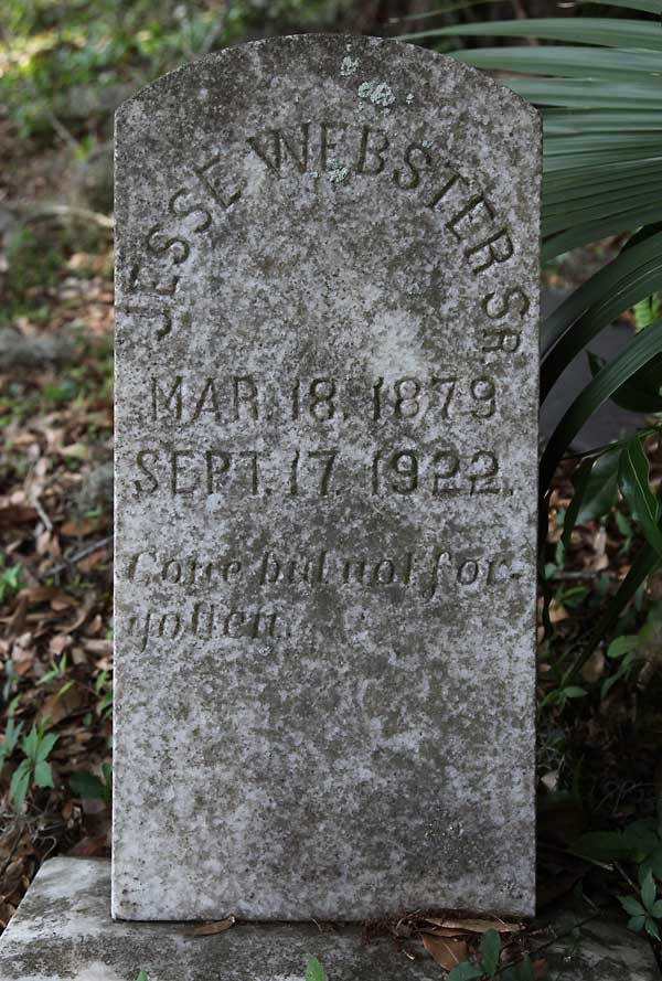 Jesse Webster Gravestone Photo
