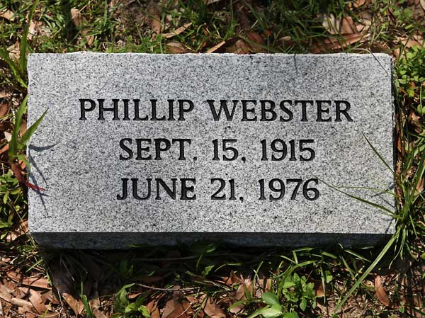 Phillip Webster Gravestone Photo