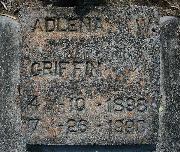 Adlena W. Griffin Gravestone Photo