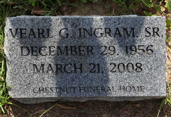 Vearl G. Ingram Gravestone Photo