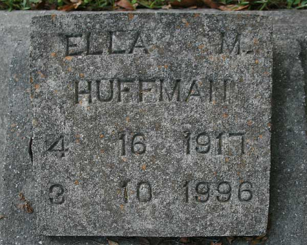 Ella M. Huffman Gravestone Photo