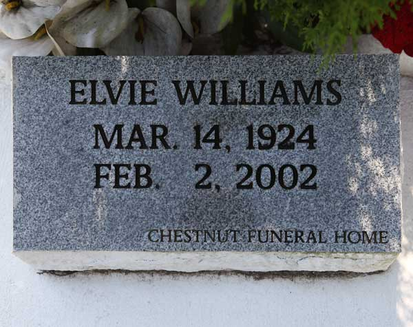 Elvie Williams Gravestone Photo