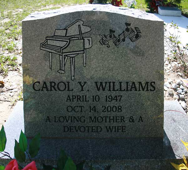 Carol Y. Williams Gravestone Photo