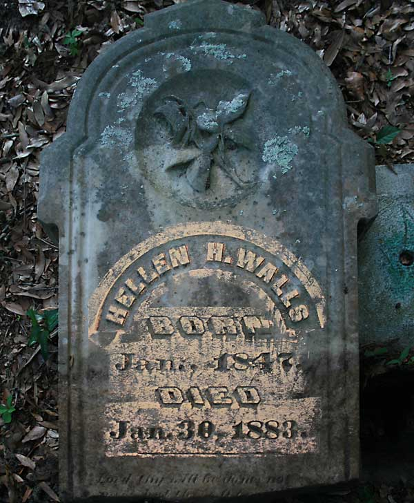 Hellen H. Walls Gravestone Photo