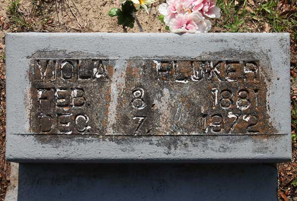 Viola Fluker Gravestone Photo