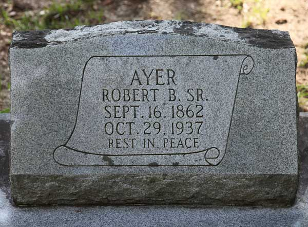 Robert B. Ayer Gravestone Photo