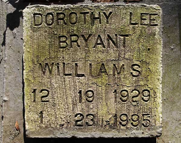 Dorothy Lee Bryant Williams Gravestone Photo