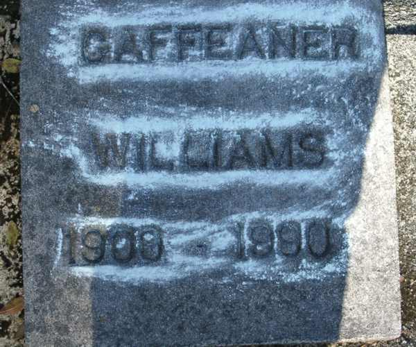 Gaffeaner Williams Gravestone Photo