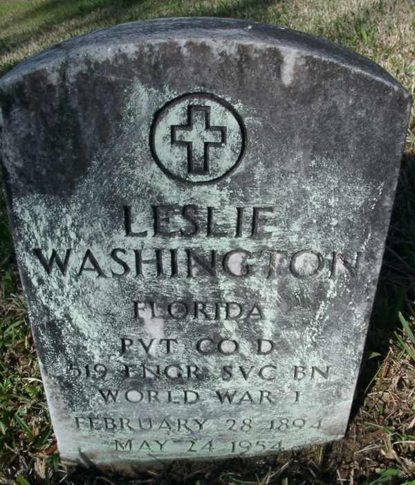 Leslie Washington Gravestone Photo
