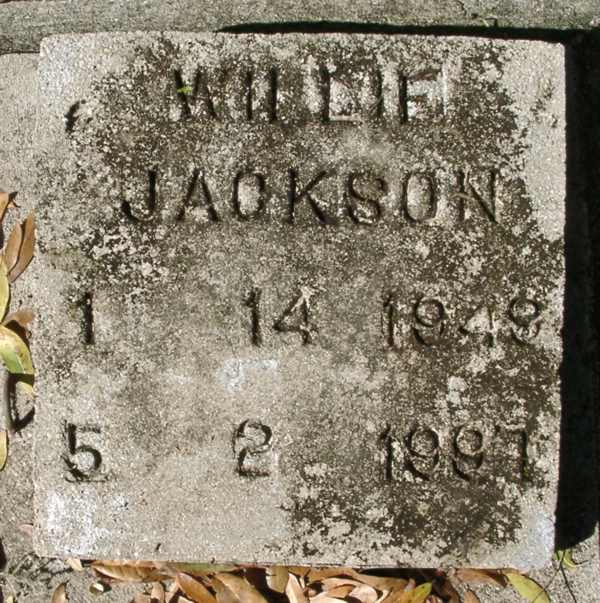 Willie Jackson Gravestone Photo