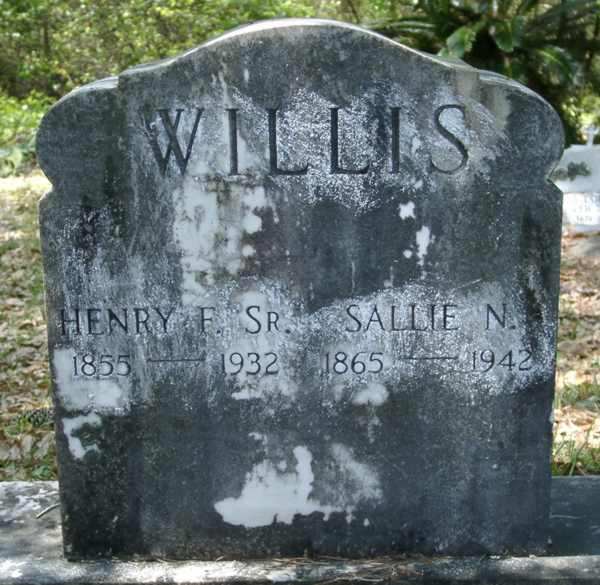 Henry F./Sallie N. Willis Gravestone Photo
