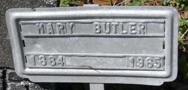 Mary Butler Gravestone Photo