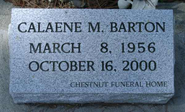 Calaene M. Barton Gravestone Photo