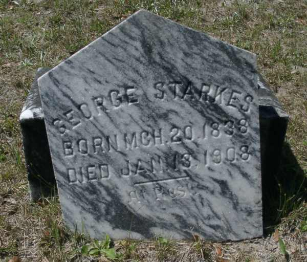 George Starkes Gravestone Photo