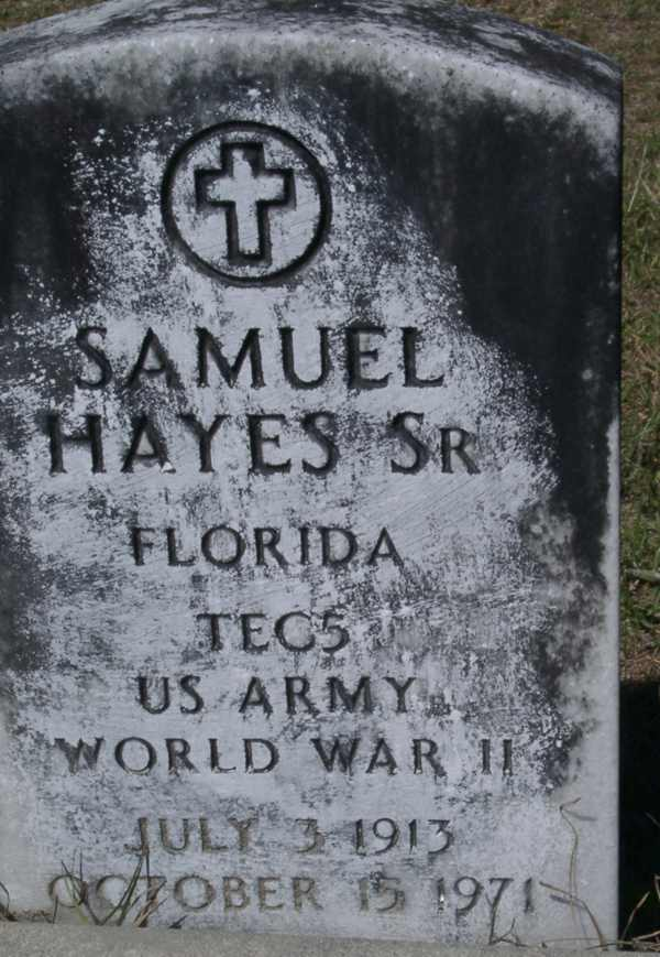 Samuel Hayes Gravestone Photo