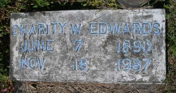 Charity W. Edwards Gravestone Photo