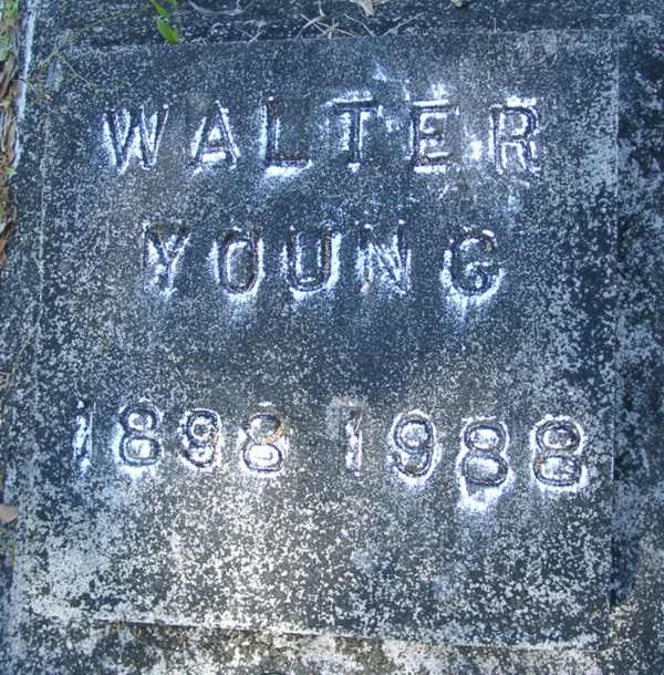 Walter Young Gravestone Photo