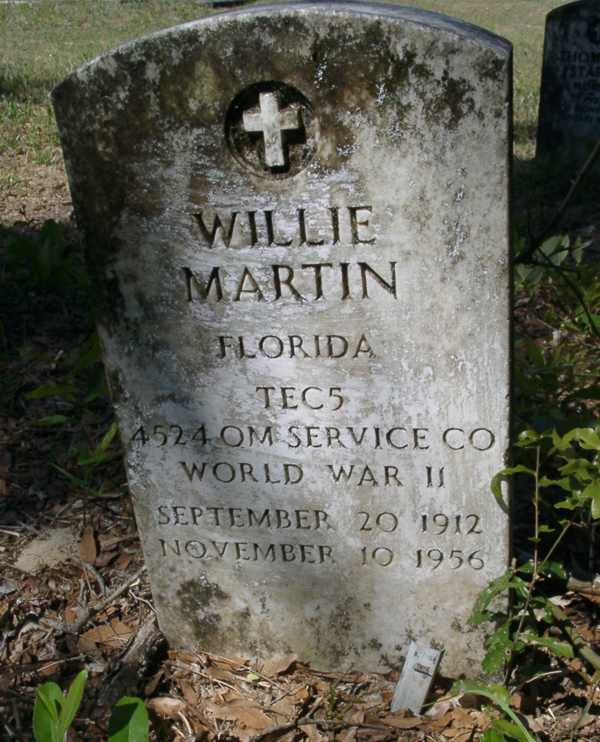 Willie Martin Gravestone Photo