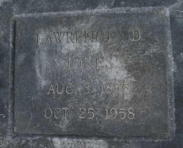 Lawrence D. Jones Gravestone Photo