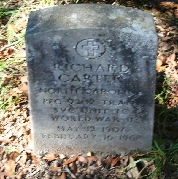 RICHARD CARTER Gravestone Photo