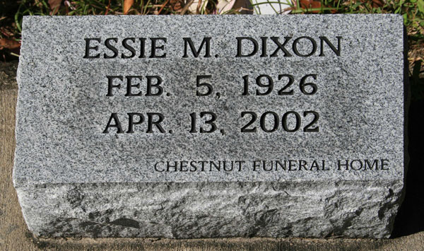 ESSIE M. DIXON Gravestone Photo