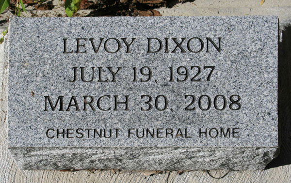 LEROY DIXON Gravestone Photo