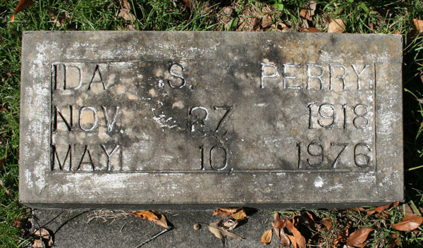 IDA STRODER PERRY Gravestone Photo