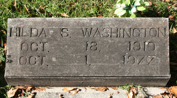 HILDA STRODER WASHINTON Gravestone Photo