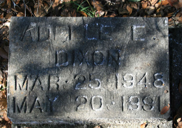 ADMLE E. DIXON Gravestone Photo
