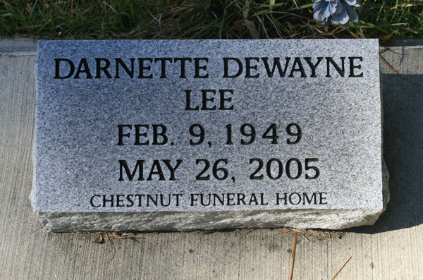 DARNETTE DEWAYNE LEE Gravestone Photo