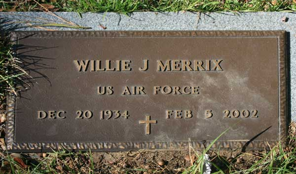 WILLIE JAMES MERRIX Gravestone Photo