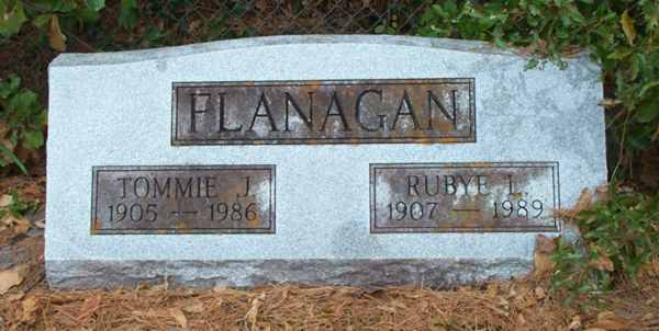Tommie J. & Rubye L. Flanagan Gravestone Photo