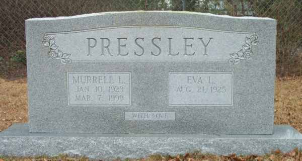 Murrell L. & Eva L. Pressley Gravestone Photo
