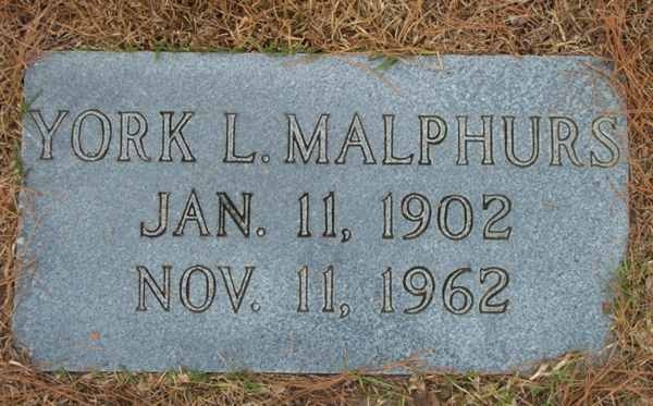 York L. Malphurs Gravestone Photo