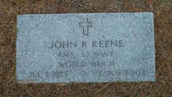 John R. Keene Gravestone Photo
