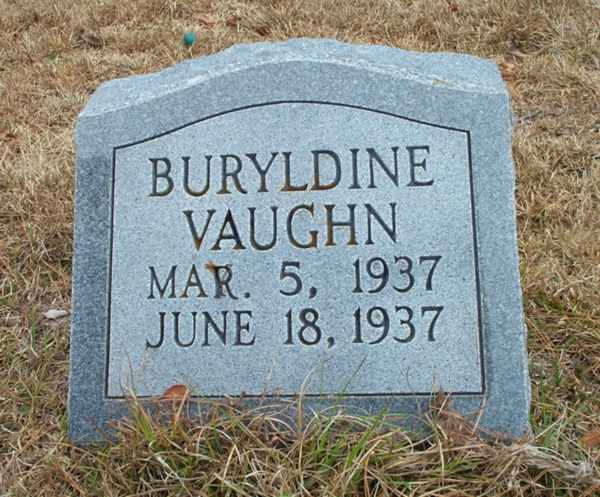 Buryldine Vaughn Gravestone Photo