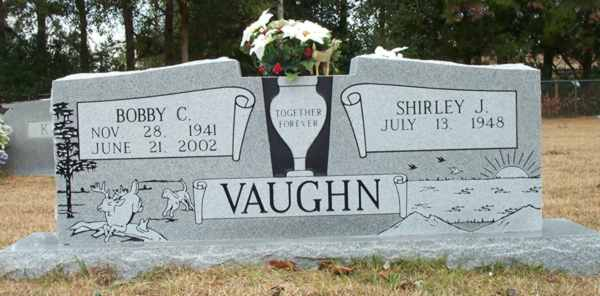 Bobby C & Shirley J. Vaughn Gravestone Photo