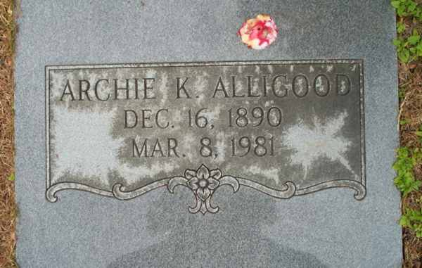 Archie K. Alligood Gravestone Photo