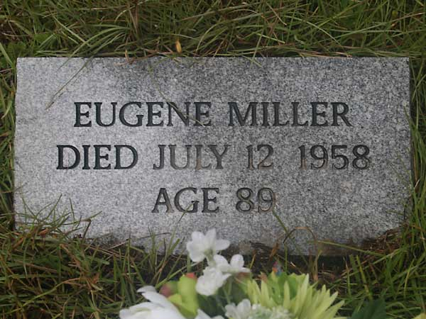Eugene Miller Gravestone Photo